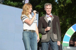 Actress Connie Britton and educator Bill Nye