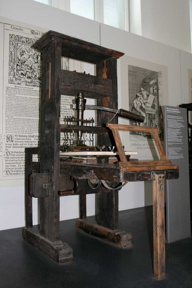 In the 15th-century Johannes Gutenberg (Germany) invented the printing press with movable type, which changed the way the world received printed information.