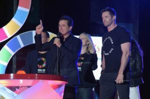 Hosts Stephen Colbert and Hugh Jackman