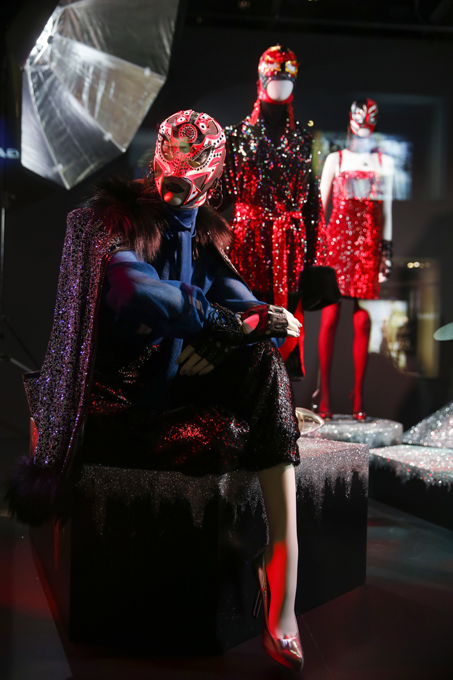 VIENNA, AUSTRIA - SEPTEMBER 15: The Installations By Designer Jean Paul Gaultier at the Swarovski Kristallwelten Store Vienna on September 15, 2015 in Vienna, Austria. (Photo by Franziska Krug/Getty Images for Swarovski Kristallwelten)