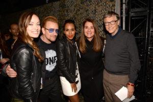 Olivia Wilde, Bono, Kerry Washington, Melinda Gates and Bill Gates