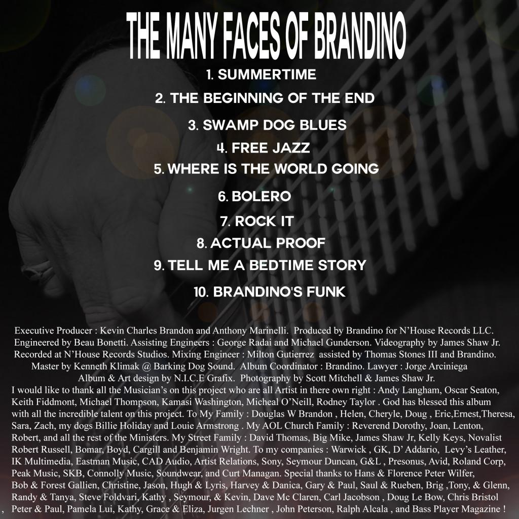 Brandino's Back cover