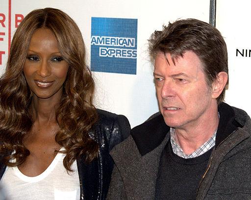 Iman and David Bowie at the Premier of MOON Photo: David Shankbone via Wikimedia Commons