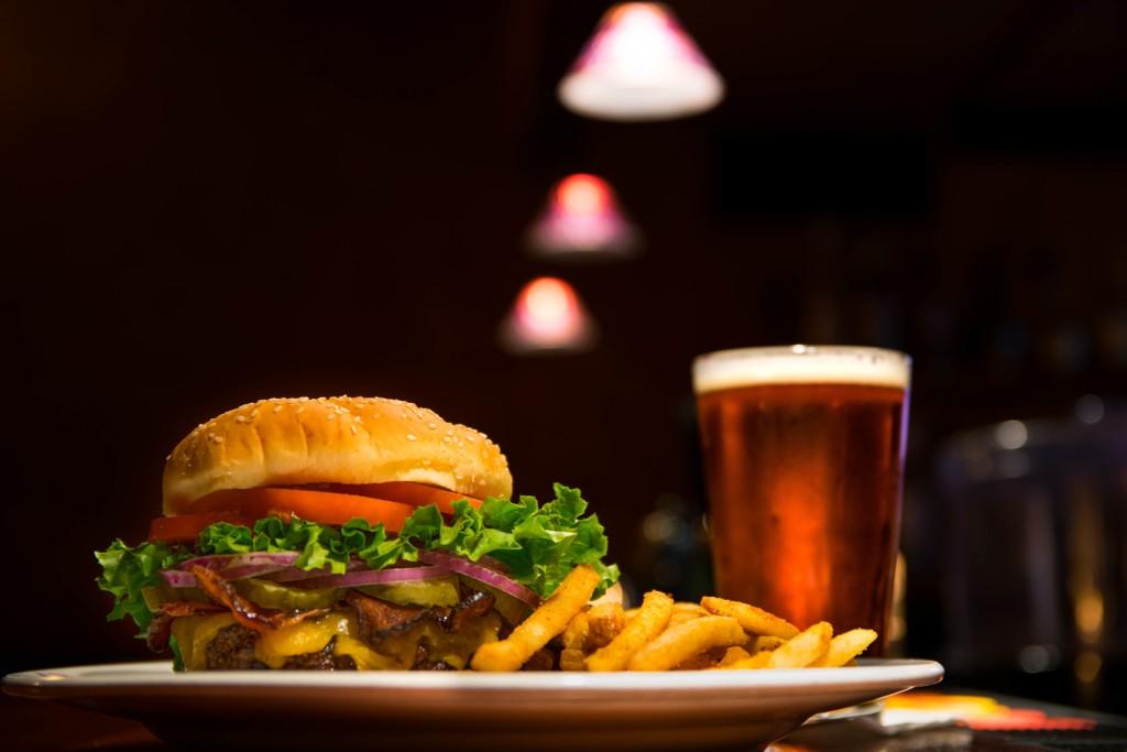 hamburger-beer-fries